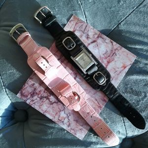 Guess Black Pink Interchangeable Band Watch